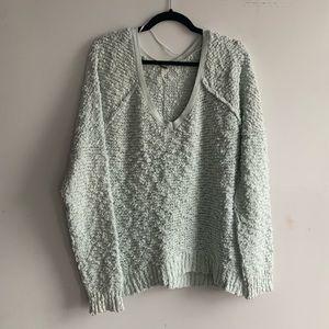 Free People open knit oversized sweater